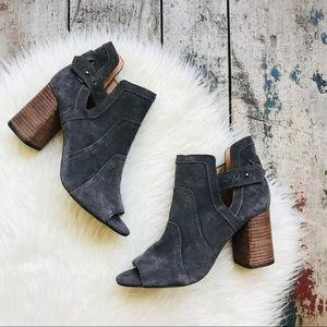 Joes gray suede heels Sz 7